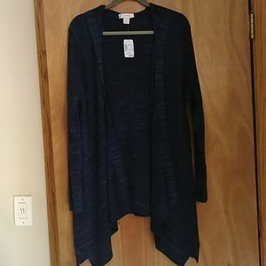 CJ Banks hooded Open Front Cardigan